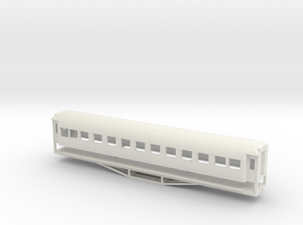 56ft 1st Class SI, New Zealand, (OO Scale, 1:76) in White Natural Versatile Plastic