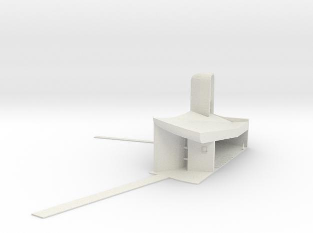 Le Corbusier Notre-Dame du Haut in White Natural Versatile Plastic