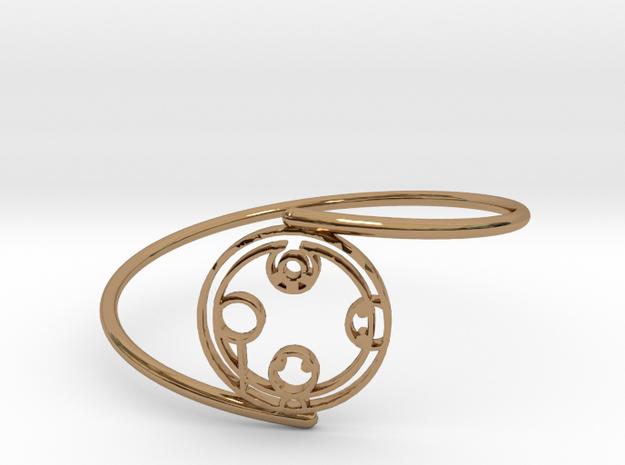 Kayden - Bracelet Thin Spiral in Polished Brass