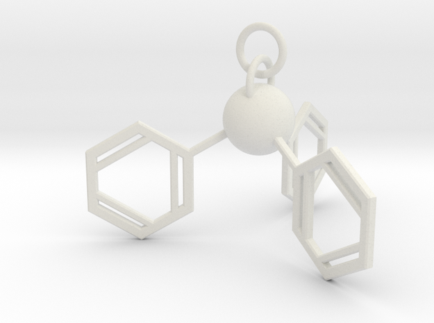 Triphenylphosphine(ring added) in White Natural Versatile Plastic
