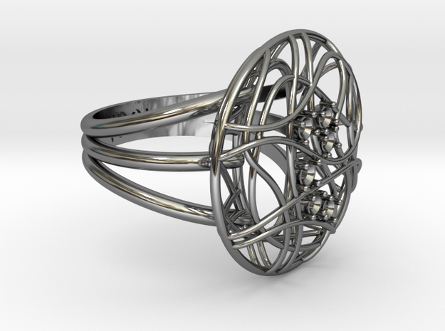 Complicated Ring in Premium Silver
