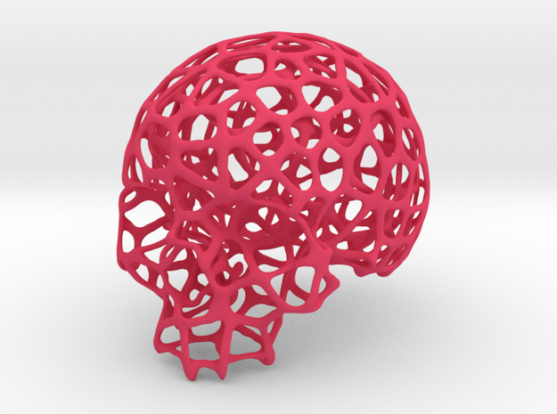 Wired Skull 3d printed