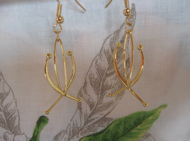 Composition 1 Earrings in 18k Gold Plated Brass