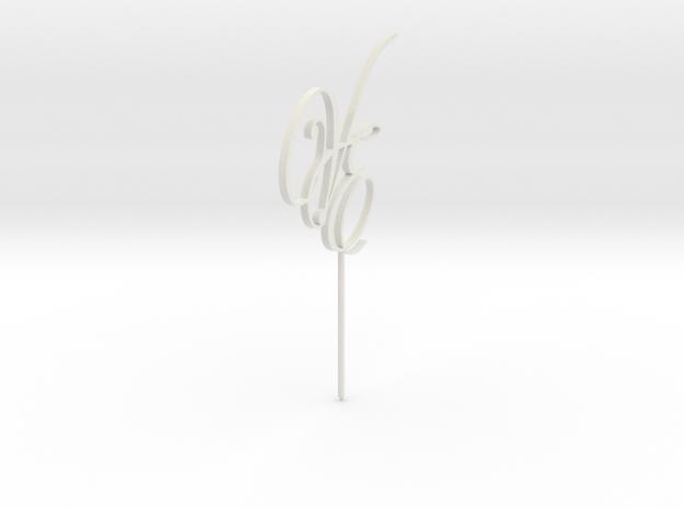 Cake Topper VE Letters MESH in White Natural Versatile Plastic