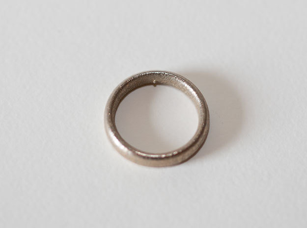 Pain Ring in Polished Bronzed Silver Steel: 8 / 56.75