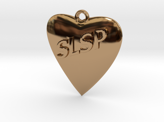 Monogram Heart in Polished Brass