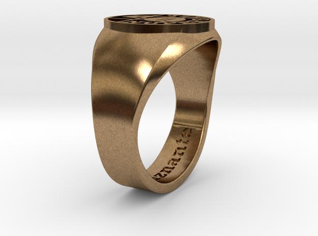Nuperball Espeluznante Ring in Natural Brass