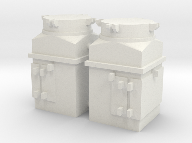 1/16 scale M4 Sherman Air Filters in White Strong & Flexible