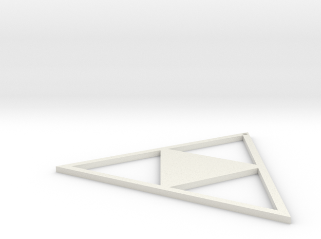 Triforce Earing in White Natural Versatile Plastic