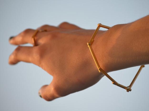 Stick Bracelet 3d printed Stick Golden Bracelet