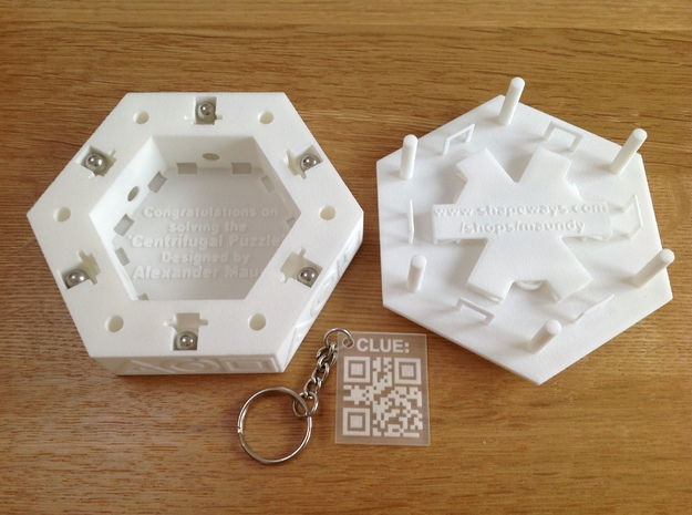 Centrifugal Puzzle Box 3d printed 'Clue' is sold separately (see description below)