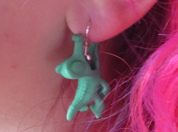 Gummy Earring in Green Processed Versatile Plastic