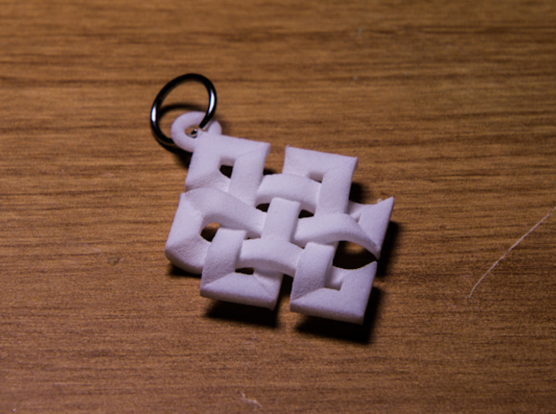 Celtic Knot Necklace 3d printed White Strong And Flexible Print