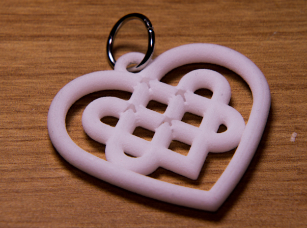 Celtic Heart Knot 3d printed (Error in file that was fixed)