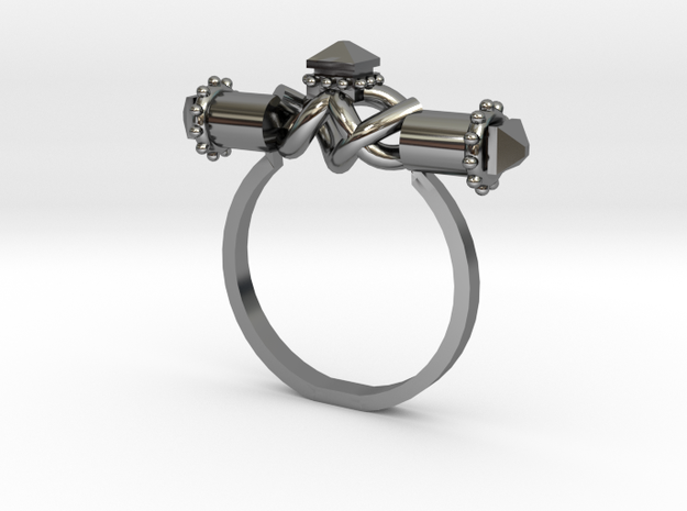 Serpent Capsule Ring - Sz. 10 in Fine Detail Polished Silver
