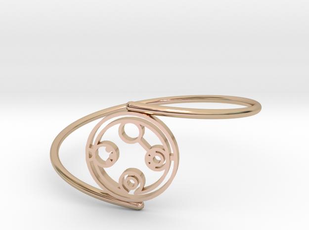 Belinda - Bracelet Thin Spiral in 14k Rose Gold Plated Brass