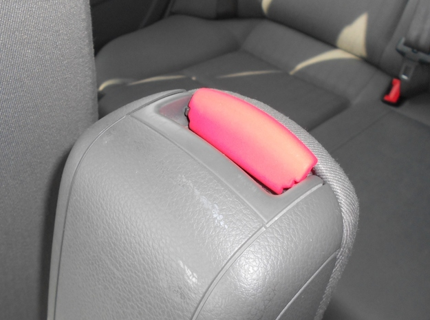 Audi A4 B6 armrest lid standart 3d printed Red closed arm rest