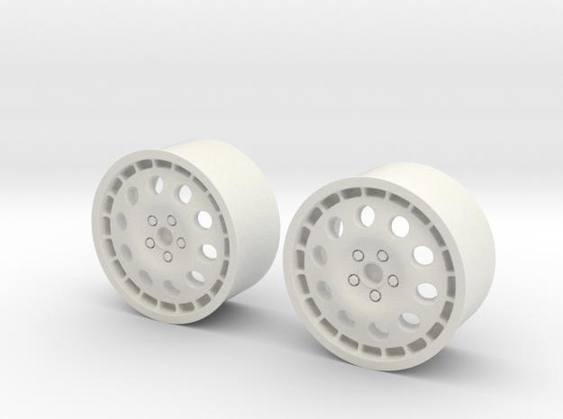 Rims For Lancia Delta S4 Scale 1-10  in White Natural Versatile Plastic