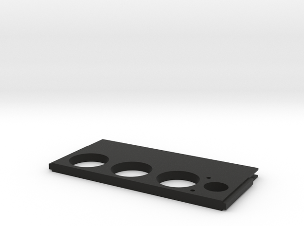 Spitfire Dimmerscreen Centre plate in Black Strong & Flexible