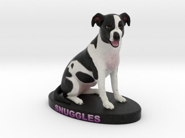 Custom Dog Figurine - Snuggles in Full Color Sandstone