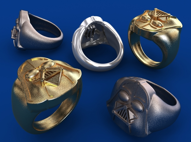 Vader ring - 16mm in Stainless Steel