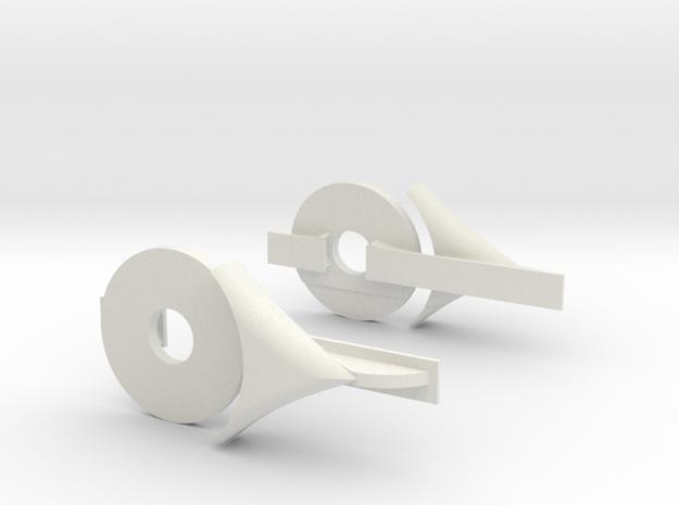 Rear Aero Kit in White Natural Versatile Plastic