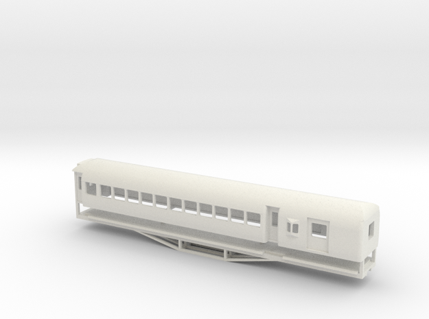 AL Car-van, New Zealand, (S Scale, 1:64) in White Natural Versatile Plastic