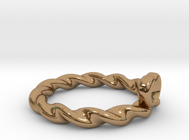 Heart Shape Ring in Polished Brass