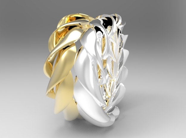 Macaroni Ring in Polished Silver
