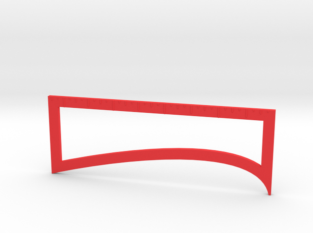 Fletching Tool in Red Processed Versatile Plastic