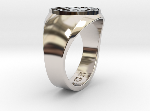 Superball Tpr Ring in Rhodium Plated Brass