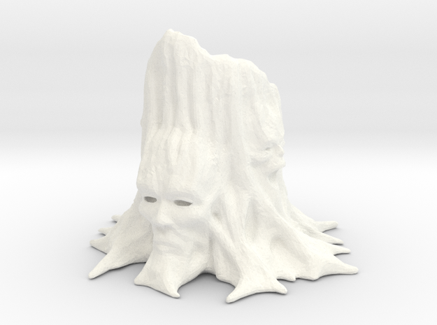 Totem Tree 002 in White Processed Versatile Plastic