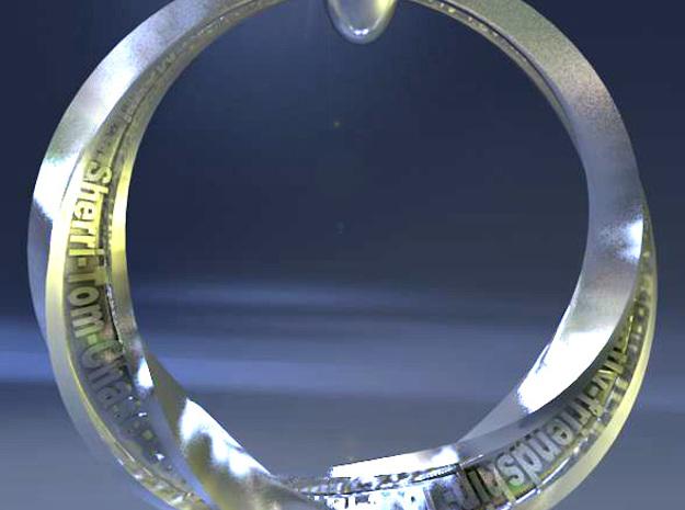 Familycirclethickr 3d printed Family Circle pendant