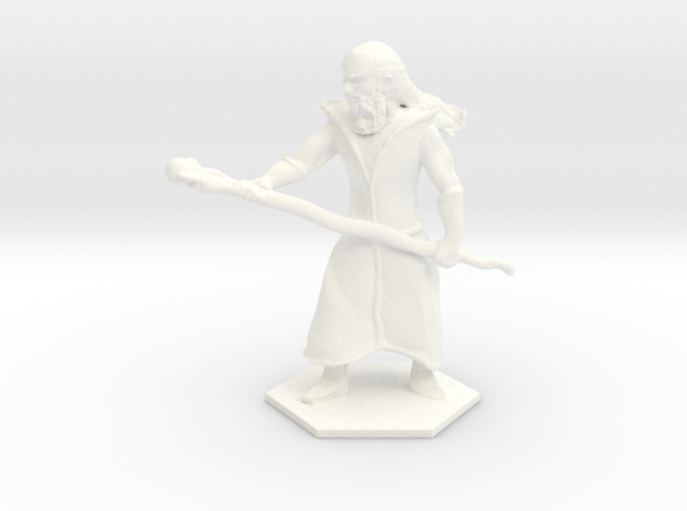 Staff Wizard in White Processed Versatile Plastic