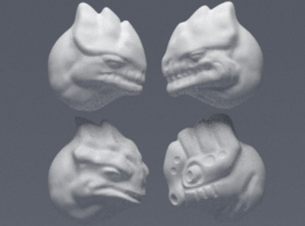 Fauxgan Headsculpts in Black Hi-Def Acrylate