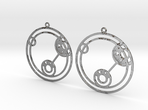 Lizzie - Earrings - Series 1 in Fine Detail Polished Silver