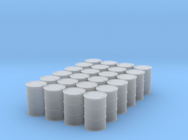1/64 (2 Dozen) 55 Gal Drums in Smooth Fine Detail Plastic
