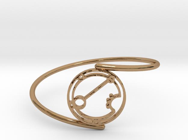 Ariana - Bracelet Thin Spiral in Polished Brass