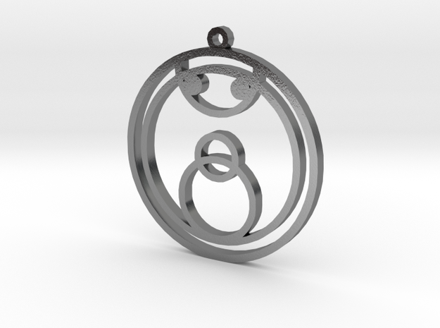 Joy - Necklace in Polished Silver