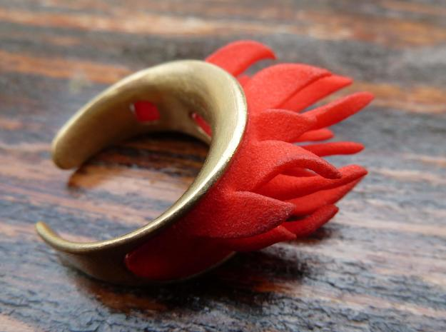 Fire Element (clips onto Swap-ring) in Red Processed Versatile Plastic
