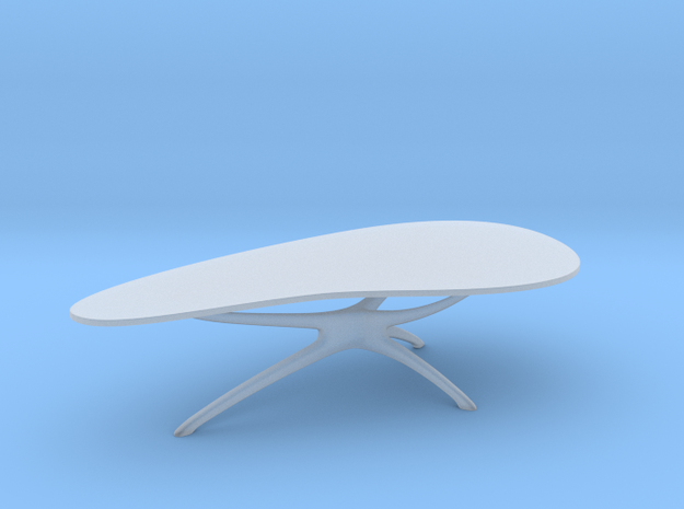 Mid-Century Cocktail Table 1:48 in Smooth Fine Detail Plastic