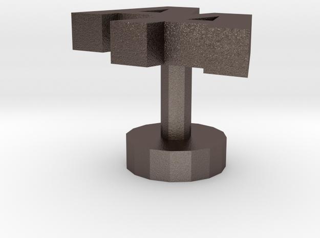 Cufflinks Aa in Stainless Steel