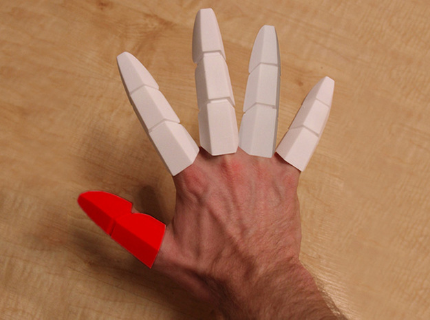 Iron Man Thumb Finger in White Strong & Flexible
