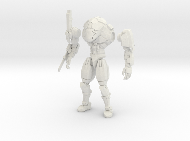 15mm scale mech -  Rapier in White Natural Versatile Plastic