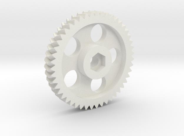 Lulzbot Herringbone Large Gear-1.1.c in White Natural Versatile Plastic