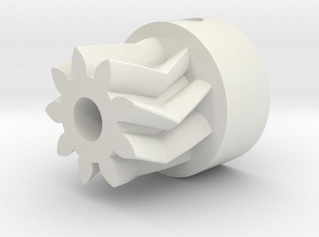 Herringbone Small Gear-1.1-highres in White Natural Versatile Plastic