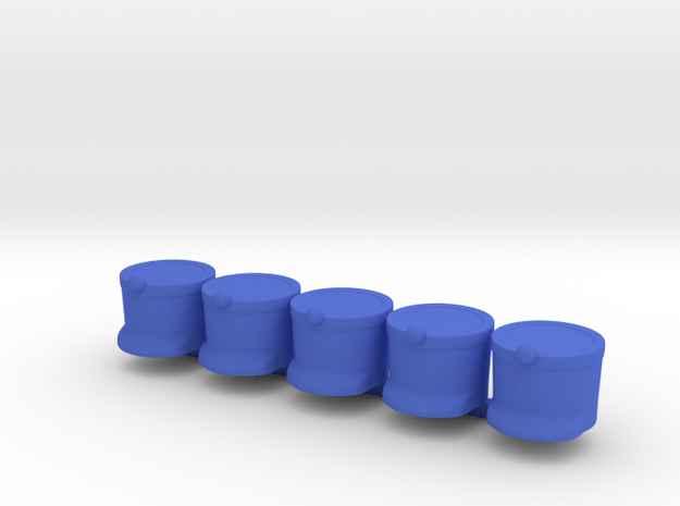 5 x French Shako in Blue Processed Versatile Plastic