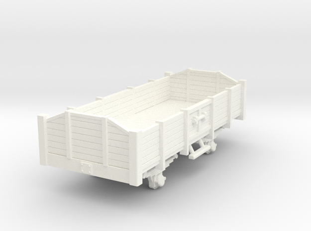 Carro aperto - open wagon H0m in White Processed Versatile Plastic