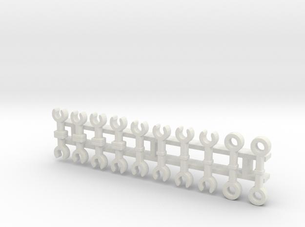 S-Bahn-Kupplungen / couplers (Z, 1:220) in White Natural Versatile Plastic