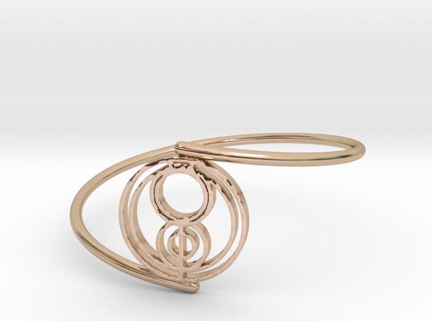 Jenna - Bracelet Thin Spiral in 14k Rose Gold Plated Brass